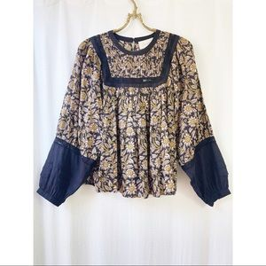 Anthropologie Cleobella Rafia lace blouse